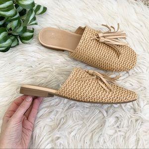 Universal Thread Shoes - 🌱Universal Thread Esther Woven Tassel Raffia Mule